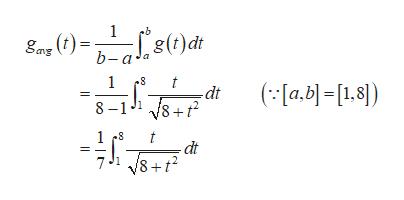 1 b g(t)dt gas b-a' 1 (a.b[1.8]) -dt 8 8-1 1 t dt 8