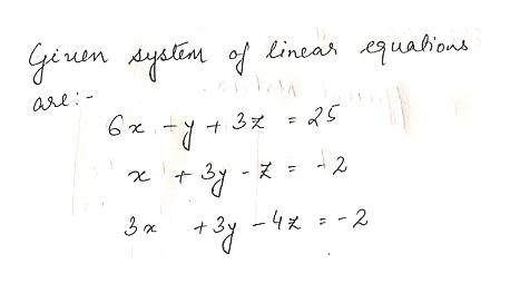 giuen yalin of Linea uahions A arl: y3 2 t3- -4x -2