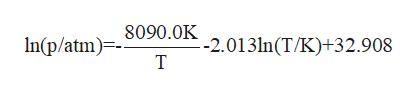 8090.0K In(p/atm)- -2.013ln(T/K)+32.908 T