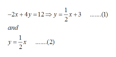 1 -2x4y 12y =-x+3 2 ....1) and 1 y=x 2 ..(2)