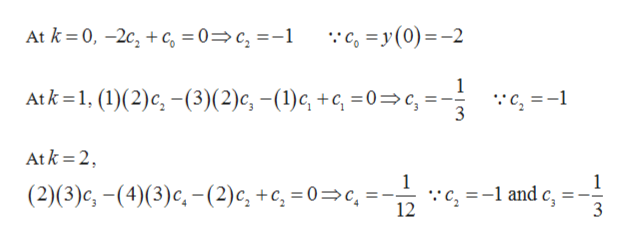 :с, 3у (0)—-2 At k %3D0, -2с, + с, %3D 0%3D с, %3-1 Atk%31, (1)(2)c, —(3)(2)с, -(1)с, +, %3D0%3D с, %3 :с, %3D-1 Atk 2 1 :с, %3-1 and c, 3 (2)(3)с, - (4)(3)с, - (2)с, +с, 3D0—с, 12