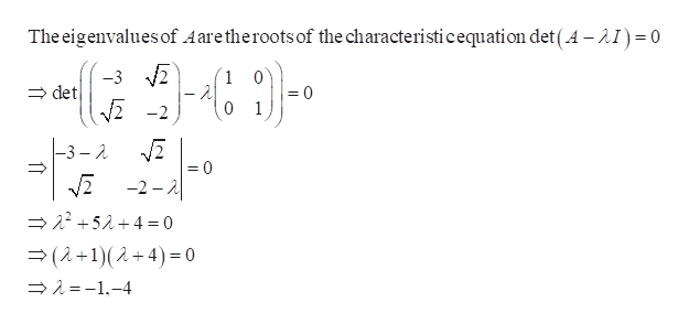 The eigenvalues of Aaretheroots of the characteristicequation det (A -2I)0 -3 det 1 - 2 -2 0 =0 1 -3 - 2 = 0 /2 -2 -A 524= 0 (2+1)(2+4) 0 1-4