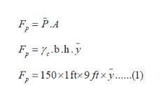 F = P.A = e.b.h.y F 150x1ftx 9ftxy....)