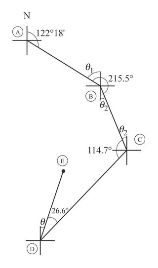 N 122°18' 215.5 B 114.70 E /26.69
