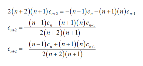 2 (п+ 2)(п+1)с, —-(п-1) с, - (п+1)(п)срн (п-1)с, - (п+1)(п) с,ри 2(n+2)(п+1) (п-1)с, +(п+1)(n)с, Сд2 Сре2 2(п+2)(п+1)