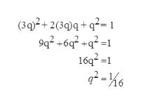 (302+230q+q2= 9q2 +6 +q2= 16q21 2-6 =1