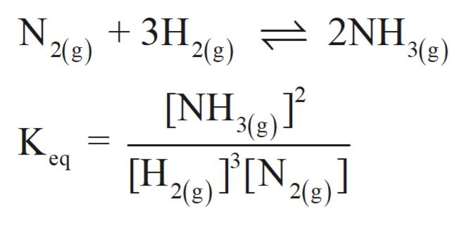 2(g) 2NH. 3(g) 3H N 2(g) [NH 3(g) K H2 IN2e] eq 2(g