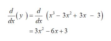d (x3- 3x2+3x - 3) dx (у dx 3x2-6x+3