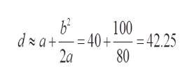 b2 100 d a+40+ 42.25 2a 80