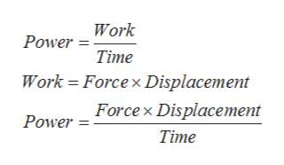 Power Work Тime Work Forcex Displacement Power Forcex Displacement Тime