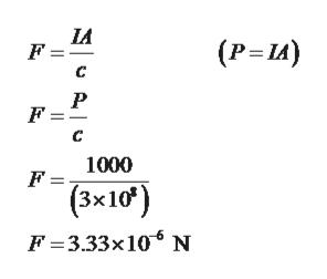 и F = (P-и) с P F = с 1000 F= (3x10) F 3.33x10 N