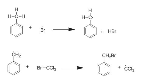 Н Н н-с-н Н-с. Br HBr CH2 CH2Br ссь Br-CCI3 + +