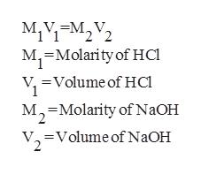 M1VEM22 М, M, Molarity of HCl =Volume of Hc M-Molarity of NaOH 2 Volume of NaOH