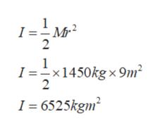 1M I = М 2 1 -x 1450kg x 9m 2 1 6525kgm2