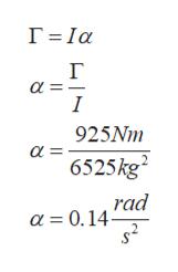 Г-1а г I 925Nm a = 6525kg2 rad a = 0.14