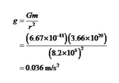 Gm (6.67x10*)(3.66x10) (8.2x10') 0036 m/s