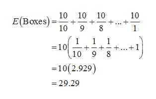 10 E(Boxes) 10 10 10 10 9 8 1 1 =10 10 9 8 1 1 .+1 -10(2.929) -29.29 +