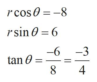 rcos0-8 rsin 0 6 -3 -6 tan 0 4 00