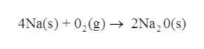 4Na(s)+0,(g) 2Na, 0(s)