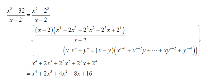 """x-32 x2 х - 2 x-2 (x-2)(x +2x +2x +2'x+2*) х - 2 _ ( x""""-y"""" (x-y(x n-2 +x 'y xyy1))  = x4 2x 222 +2x+24 = x4 +2x + 4x2 +8x+16"""