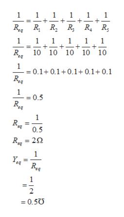 11 ba 11 1 R 10 10 10 10 10 = 0.1+ 0.1+0.1+0.1+0.1 1 = 0.5 1 R. eq 0.5 R22 1 1 2 0.50 + +