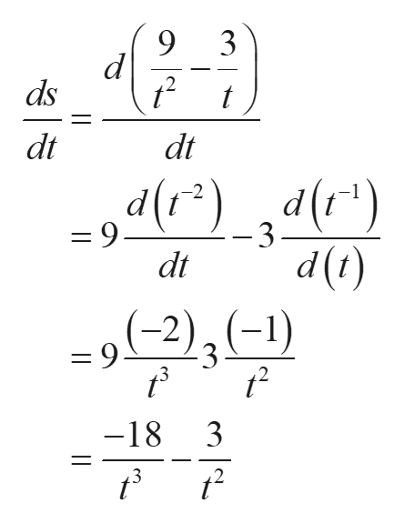 """9 3 2 ds t dt dt d()_ d(f"""") -2 = 9 -3 ()p ( 2)3(-1) dt =9. 3 12 3 -18 3 2"""
