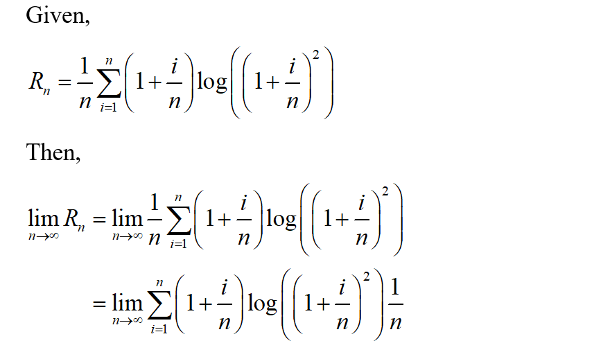 Answered: Given R, express its limits as n → o as…   bartleby