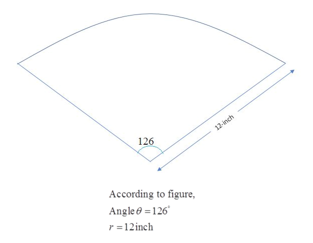 12-inch 126 According to figure Angle0 126 r =12inch