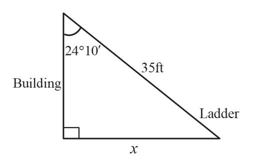 24°10 35ft Building| Ladder х