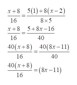 5(1)+8(x-2) 16 8 x 5 5 8.x16 16 40 40(x+8) 40(8x -11) 16 40 40(x+8)(Sx-11) 16