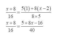 5(1)+8(x-2) x8 16 8 x 5 5 8x16 16 40