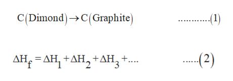 C(Dimond)C(Graphite) 2) ΔΗ, -ΔΗ+ΔΗ, +ΔΗ, +.. .