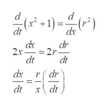 (*+1)= 4 dt dx dr 2x 2r dt dt dк rdr dt rdt