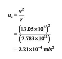 """(13.05x10) (7.783x 10"""") 2.21x10 m/s"""