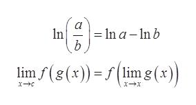 -In a- ln b n b limf(g(x))(lim g(x)