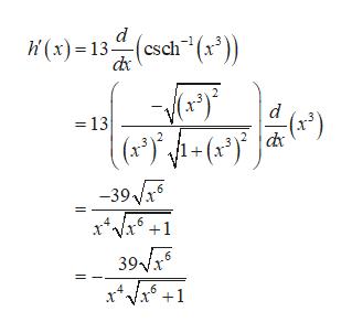 (x)13 Csch(r)) d =13 -39V6 39 6