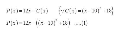 C(x)=(x-10) 18 P(x)12x-(x-10)+18)) P(x) 12x-C(x) ...1)