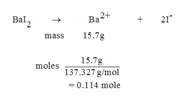 Bal 21 15.7g mass 15.7g moles 137.327 g/mol 0.114 mole
