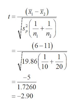 (-) t = 1 1 2 п, п, (6-11) 1 + 10 19.86 20 -5 1.7260 =-2.90