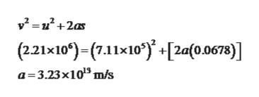 (221x10')-(7.11x10[2a(0.0678)] a 3.23x1013 m/s