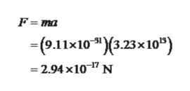 """F ma - (о1х10 """"(3.23х10"""") -2.94 x10-7 N"""