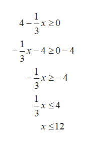 4x 20 1 --x-4 20-4 1 x2-4 3 1 -x<4 x12