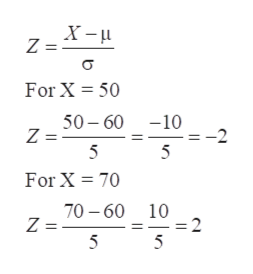 X- Z = For X 50 50-60 Z = 5 -10 -2 5 For X 70 70-60 Z = 5 10 -=2 5