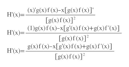"""H'(x)Xg(x)f (x)-x[g(x)f(x)]"""" g(x)f(x)]2 H'(x)=g(x)f(x)-x[g'(x)f(x)+g(x)f'(x)] g(x)f(x)]2 H'x)=g(x)f(x)-x[g'(x)f(x)+g(x)f'(x)] g(x)f(x)]2"""