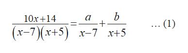 b 10r 14 a .. (1) (x-7)(x+5) x-7x+5