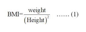 BMIweight (Height) ... (1)