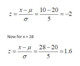 x- 10-20 = -2 Now for x 28 x-u28-20 1.6 5