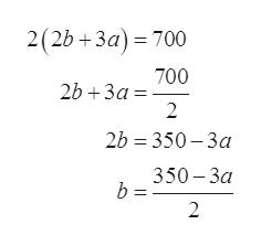 2(2b +3a) 700 700 2b +3a 2 2b 350-3a 350-За 2