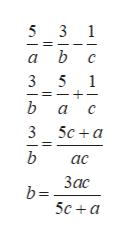 5 3 1 a b 3 5 1 b а с 3 5с +а b ас Ззас b= 5с + а 1о   