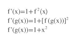 f'(x) 1f2(x) f'(g(x))-1+[f (g(x))] f'(g(x)) 1+x